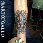 lion mandala tattoo by Joe Galloway