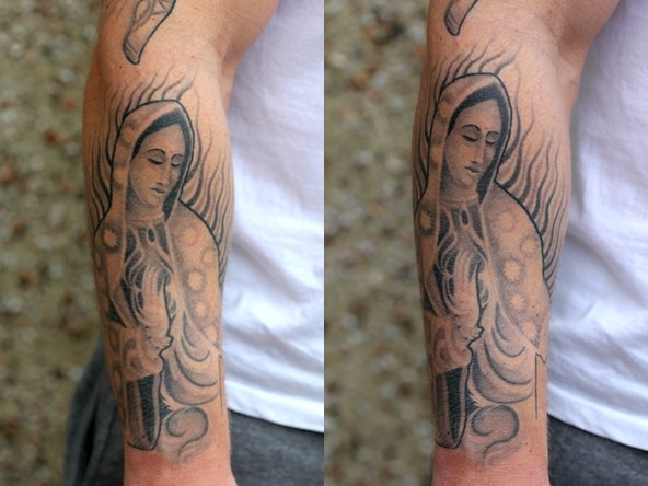 Louis Santos Virgin Mary Chicano Sleeve