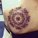 Floral Mandala Tattoo by Joe Galloway