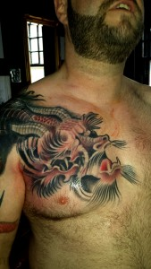 Japanese Dragon Tattoo by Louis Santos Tattoo Leeds