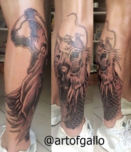 dragon tatoo leg by joe galloway