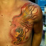 phoenix tattoo by louis santos